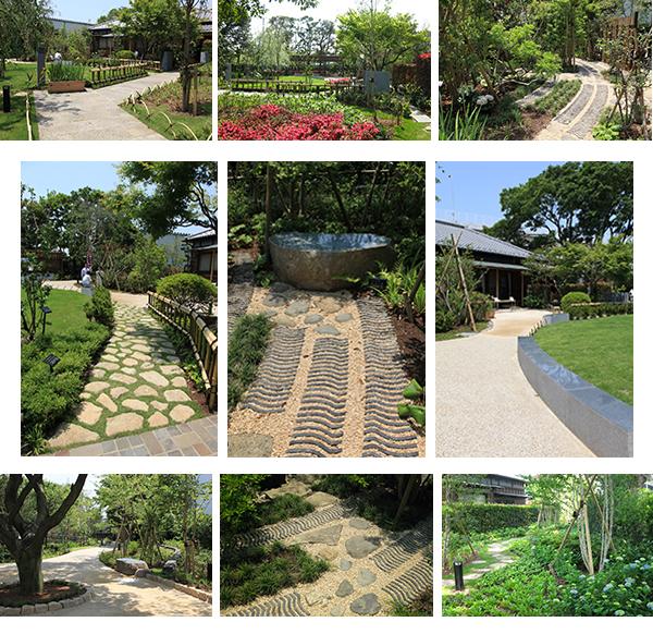 一之江抹香亭是一座为后世传承区域历史文化的庭园,同时也是一座以一之江境川亲水公园为轴、最大限度地与周边地区的活动场地相整合的庭园。 该庭院古时拥有抹香屋名号,是原东一之江村的村舍。庭园内有一株树龄七百五十年以上、作为抹香原料的红楠。园内还保留了大径的庭院树和厚重的石墙、石门等宅地外围构件。通过对上述资源的灵活运用,展现出庭园的地域性、历史性。在植栽方面,配种在不同季节开花的花木及草花、人们熟知的果树等,通过色、香、味,打造可体验和感知季节的庭园。 用地内还保留了老屋,常常会在此举办一些制作香袋和茶话会等